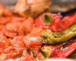 Шакшука с печени зеленчуци  3
