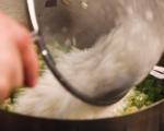 Задушен свински врат с ориз и зеленчуци 5