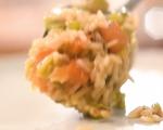 Задушен свински врат с ориз и зеленчуци 6