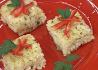 Оризови блокчета с тиквички