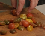Бобена салата с риба и домати  4