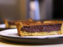 Шоколадов тарт с мед и горчица