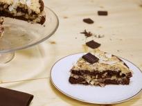 Шоколадова торта с кокос