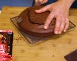 Шоколадова торта с кокос 8