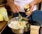 Паста на фурна с пилешко и спанак 5