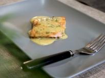 Сьомга с глазура от горчица