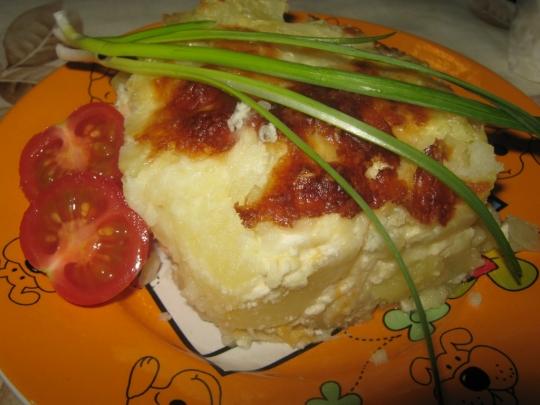 Запеканка с картофи и 4 вида сирена