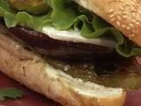 Сандвич с патладжан и зелени домати