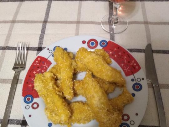 Хрупкави пилешки филета с корнфлейкс ...