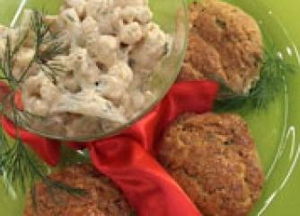 Коктейл от карфиол с билкови бисквитки