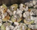 Запеканка с тиквички и пилешко месо 3