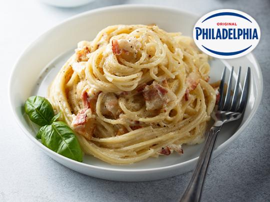 Спагети Карбонара с Philadelphia