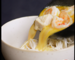Пилешка супа с кокос и скариди 7