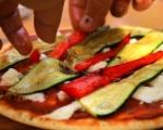 Пица със зеленчуци на грил 6
