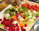 Салата с леща, печени зеленчуци и сирене 3