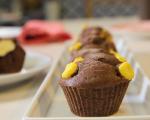 Шоколадови мъфини с чийзкейк плънка 5