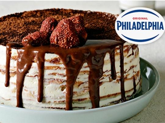 Палачинкова тирамису торта с Philadel...