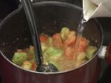 Супа от зелени и червени домати 3