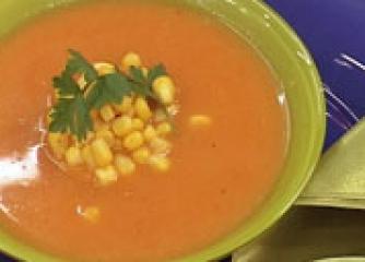 Лучена супа с царевица
