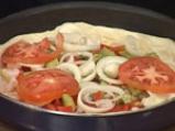 Креолска пица с бамя и скариди 6