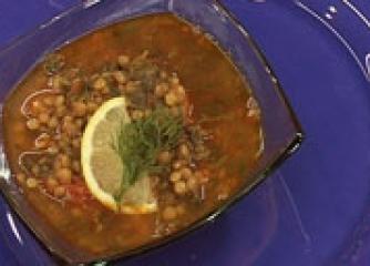 Супа с леща и спанак