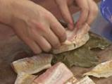 Рибно филе в лозов лист