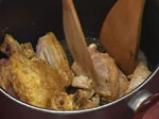 Пилешка яхния с бамя и фъстъчено масло 2