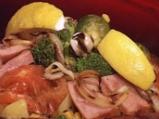 Сач от свинско месо със задушени зеле...