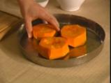 Печена тиква с ванилов сос