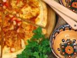 Пица с рулца от раци и пушено сирене