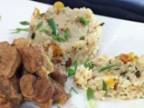 Агнешко с ориз пилаф, бадеми и сушени...