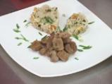 Агнешко с ориз пилаф, бадеми и сушени плодове 4
