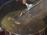 Супа с печурки и бутерки със сирене и спанак 3