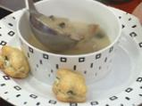 Супа с печурки и бутерки със сирене и спанак 8