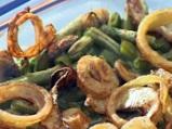 Зелен фасул с печурки и хрупкав лук