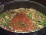 Пенне ригате с грах, печурки и домати 2