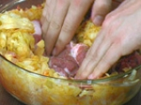 Свински пържоли с кисело зеле за микровълнова фурна 4
