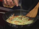 Руладини от лаврак със зеленчуци и два соса 2
