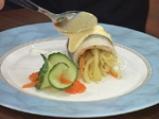 Руладини от лаврак със зеленчуци и два соса 5