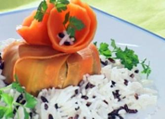 Морковен пай със спанак и орехи