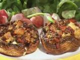 Пълнени печурки с аншоа и бекон