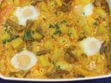 Яйчено къри с картофи
