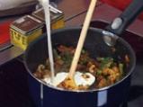 Шафрани пулао (Ориз със зеленчуци и шафран) 5