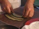 Пъстърва със синьо сирене, завита в патладжан 2