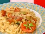 Талятели с печени домати и тиквички