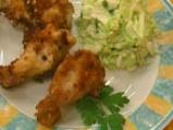 Пържени мариновани пилешки крилца
