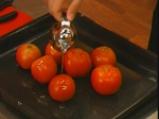 Спагетини с печени домати, орехи и извара 2