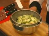 Руло от патладжани с кисели краставички