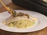 Рибно филе с каперси и капелини с тиквички 6