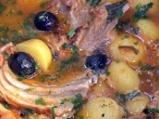 Агнешки ребърца с картофи и маслини